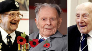 ... Veterans Bill Stone, 108, Harry Patch, 110, and Henry Allingham, 112