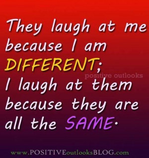 different (in my 2 Chainz voice)