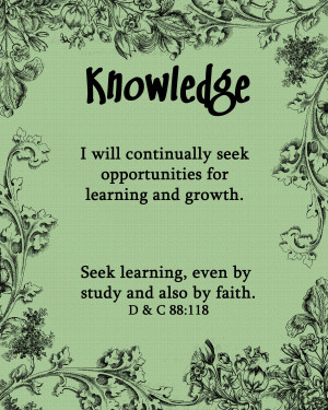 Lds Knowledge Quotes Knowledge - image