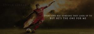 Steven Gerrard Quotes football facebook cover photo