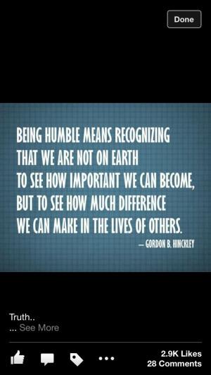 Humble Quote