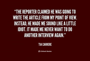 Reporter Quotes