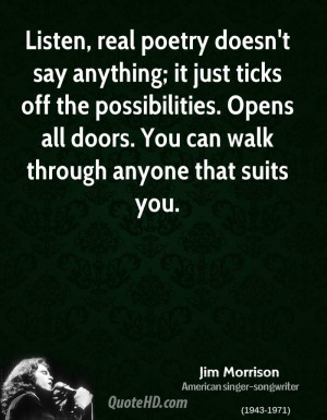 Jim Morrison Quotes and Poems