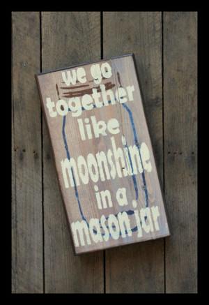 Southern Sayings - Moonshine and Mason Jar by WoodPaintedStudio, $35 ...