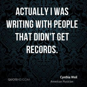 Cynthia Weil Top Quotes