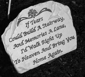 Heaven Quote Stone by halfgallon