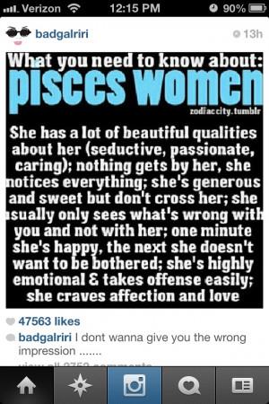 Pisces women...