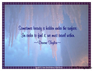Inner Beauty Quotes for Women | LOVE is the beauty that is hidden ...