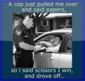Cop Paper Scissors Game