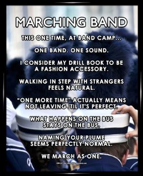 Marching Band Quotes And Sayings Framed Marching Band 8 ampquot