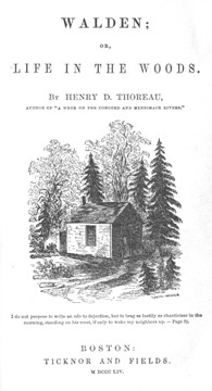 Walden, 1854, title-page (From the Walter Harding Collection)