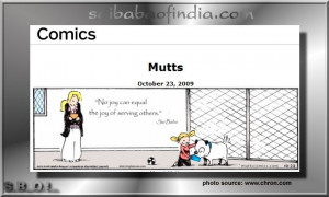 Sai Baba quote appears in U.S. Newspaper's comic strip Mutts