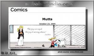 Sai Baba quote appears in U.S. Newspaper's comic strip Mutts
