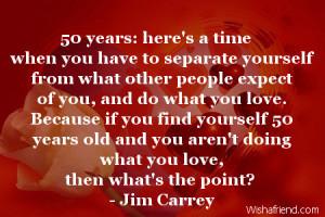 50 Year Birthday Quotes