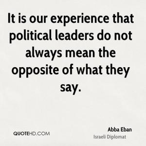 Abba Eban Politics Quotes