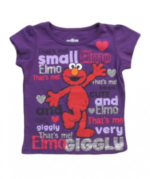 Toddler Elmo Sayings Purple T-Shirt Front