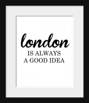 Audrey Hepburn Quote-Typography Poster-London Print-Black and White ...