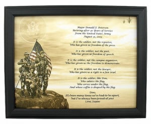 army retirement poem this army poem about the military makes a nice ...