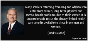 from Iraq and Afghanistan suffer from serious, long-term, physical ...