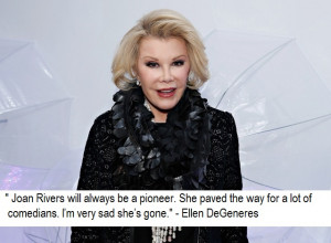Joan Rivers Death Quotes