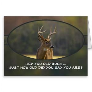 Hunting Funny Buck Animal Camo Happy Birthday Card