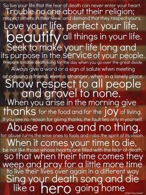 Chief Tecumseh Poem