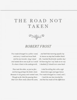 Robert Frost Poem Two Roads Meaning