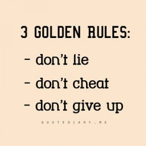 quotes #life GOLDEN RULES