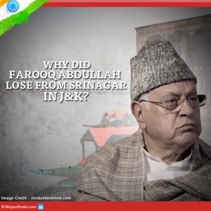 Farooq Abdullah has lost to PDP s Tariq Hamid Karra Farooq Abdullah