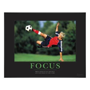 Focus Soccer Motivational Poster