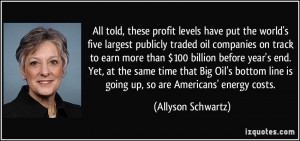 levels have put the world's five largest publicly traded oil companies ...