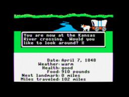 Screenshot from the Apple II version