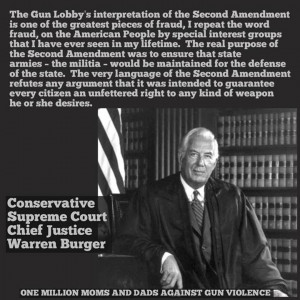 Conservative Supreme Court Chief Justice Warren Burger