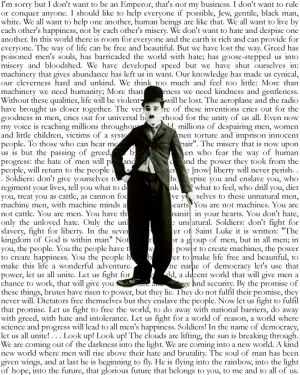 Charlie Chaplin Dictator Quotes