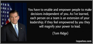 More Tom Ridge Quotes