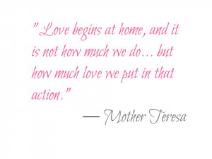 Love My 2 Sons Quotes But i love what mother teresa