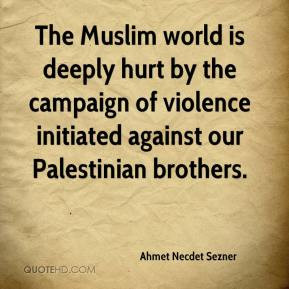 the muslim world is deeply hurt by the campaign of violence initiated
