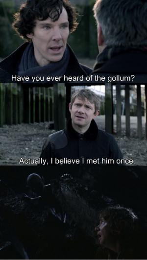 LOL funny bbc the hobbit martin freeman humor sherlock holmes Benedict ...