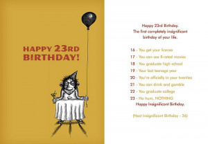 Happy 23rd birthday to me!