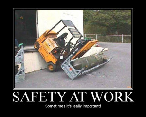 safety at work humorous motivational poster