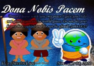 Dona Nobis Pacem Grant Peace