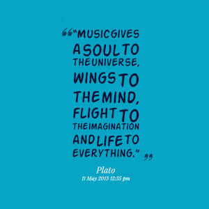 Quotes About Music And The Soul Quotes picture: music gives a