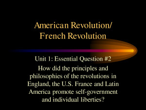 American Revolution And French