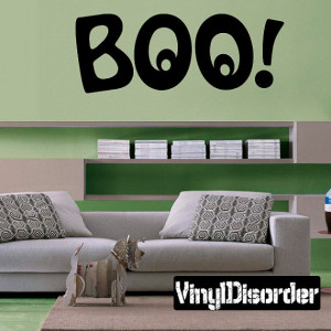 Boo Halloween - Vinyl Wall Decal - Wall Quotes - Vinyl Sticker ...