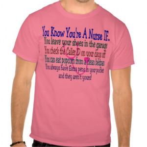 Funny Nurse Sayings T-shirts