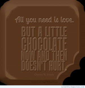 Love Is All You Need Chocolate Quote and Image