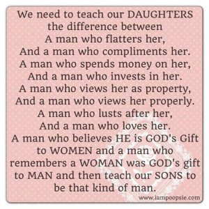 Good advice to daughters and sons