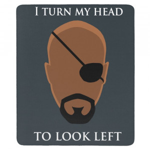 Avengers Nick Fury Funny Quotes Mouse Pad