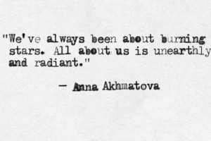 All about us is unearthly and radiant