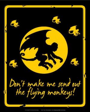 Flying Monkeys Tin Sign